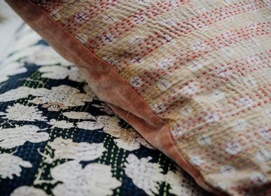 Cushions - Kantha Silk|Velvet Cushion - QUOTE COPENHAGEN