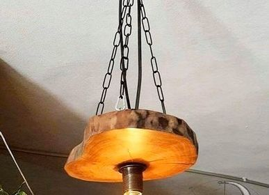 Decorative objects - Solid Wood Round Chandelier - MASIV_WOOD