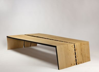 Design objects - Coffee table with stitching in itauba - MR.LOUIS