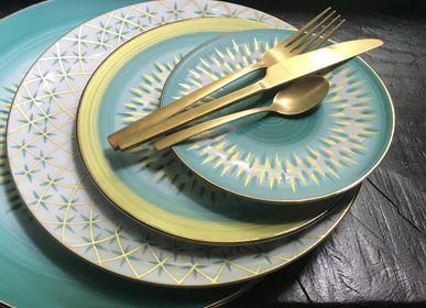 Assiettes au quotidien - Ensemble de quatre assiettes à dessert Zeste - GARANCE CRÉATIONS