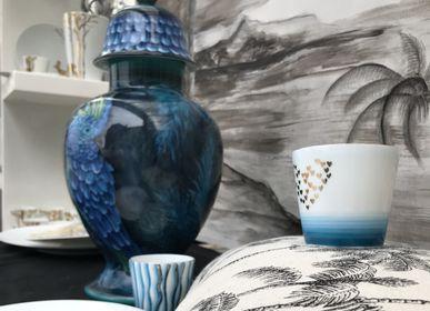 Céramique - Potiche à la perruche - GARANCE CRÉATIONS