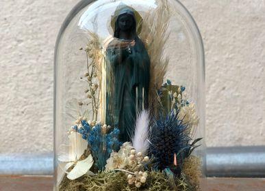 Sculptures / statuettes / miniatures - Cloche en verre Marie p.m - J'AI VU LA VIERGE