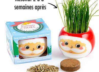 Toys - Santa Claus Ceramic Pot - Sowing Grass - RADIS ET CAPUCINE