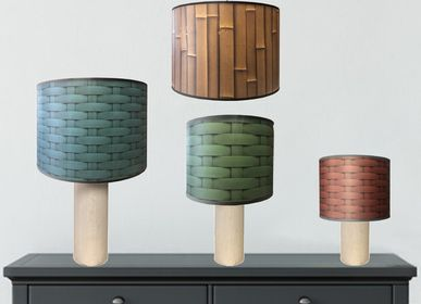 Customizable objects - WOODEN LAMP WITH A SHADE FROM OUR CHARM COLLECTION - LA MAISON DE GASPARD / FP CONCEPT
