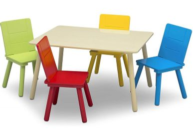Tables and chairs for children - Table and 4 chairs for children - PETIT POUCE FACTORY