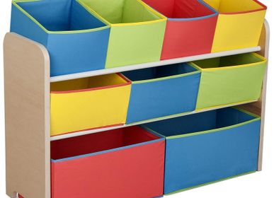 Children's bedrooms - Child Organizer 9 Bins - PETIT POUCE FACTORY