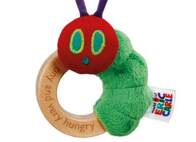 Soft toy - Ring rattle Very Hungry Caterpillar - PETIT POUCE FACTORY