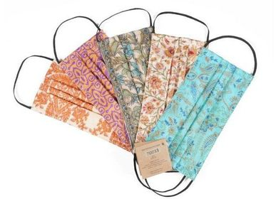 Ready-to-wear - VINTAGE SARI FACEMASKE (WHO), PACKAGE OF 5 PCS  (junior and senior) - QUOTE COPENHAGEN