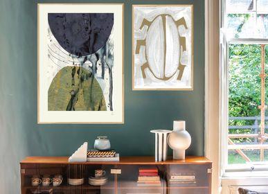 Poster - Golden Abstract Art Print - METTEHANDBERG ART PRINTS