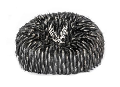Throw blankets - Embroidery fake fur beanbags/cushions - MX HOME