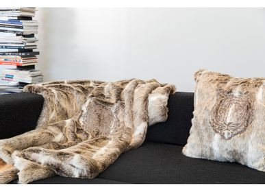 Cushions - Faux fur embroidery cushions/beanbag - MX HOME