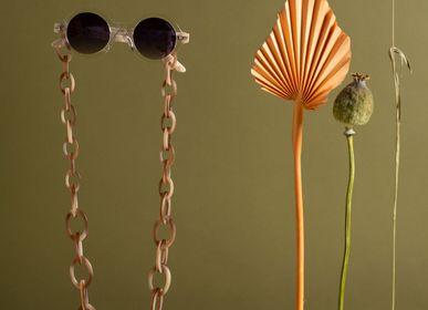 Lunettes - Chunky | Bio-acétate chair Beige | Chaîne de lunettes - ORRIS LONDON