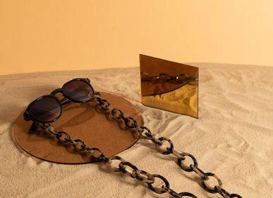 Lunettes - Chunky | Écaille de tortue légère Bio-acétate | Chaîne de lunettes - ORRIS LONDON