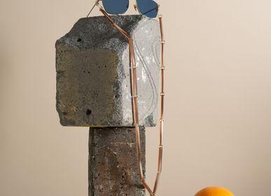Glasses - Spaghetti | Bio-Acetate Flesh Beige | Glasses Chain - ORRIS LONDON