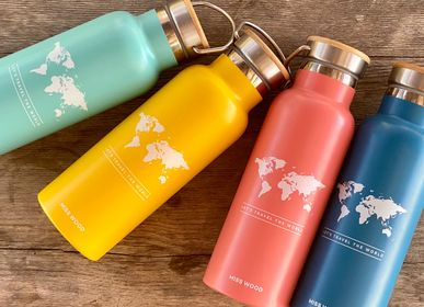 Ready-to-wear - Miss Wood Bottle - Eco-friendly stainless steel bottle - MISS WOOD