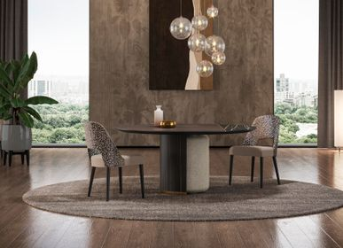Tables - MEGAN round dining table - GUAL DESIGN