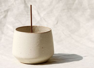 Céramique - Bol d'encens Onyx blanc - UME