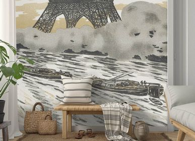 Wallpaper - Les Péniches Panel - ETOFFE.COM