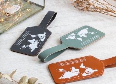 Leather goods - Luggage tag - made from recycled leather - MISS WOOD