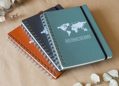 Stationery store - Notebook a5 - made of 100% recycled leather - MISS WOOD