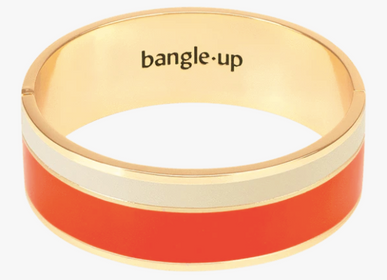 Bijoux - Bracelet Vaporetto - Tangerine / Blanc Sable - BANGLE UP