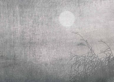 Wallpaper - Lune Argent Panel - ETOFFE.COM