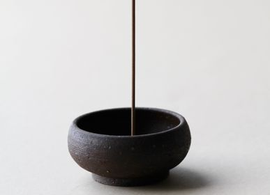 Home fragrances - Wabi Sabi Mud Clay Incense Bowl - UME