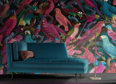 Wallpaper - Parrots Imperialis Panel - ETOFFE.COM