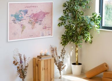 Other wall decoration - Woody Map Namasté World - Cork Yoga map with stickers - MISS WOOD