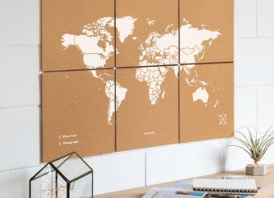 Wall coverings - Puzzle Map - Cork World map in pieces - MISS WOOD