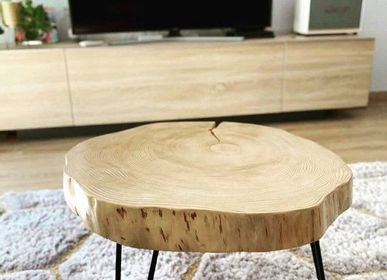 Tables pour hotels - Table basse en bois massif - MASIV_WOOD