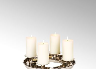 Christmas decoration - Saturnia table top wreath with 4 candleholders small - LAMBERT
