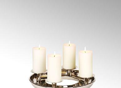 Décorations de Noël - Couronne de table Saturnia avec 4 bougeoirs - LAMBERT