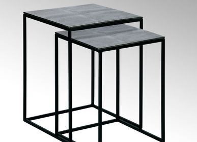 Tables basses - Dagny table d'appoint ensemble crocodile optique - LAMBERT