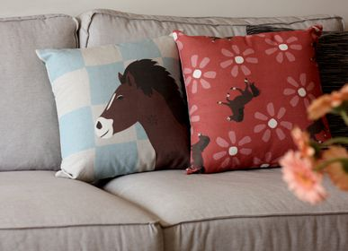 Fabric cushions - WILD HORSES cushions - MY FRIEND PACO