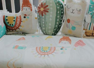 Bed linens - Blanket with Llama pattern for baby crib - PETIT ALO