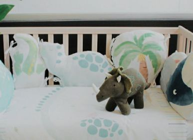 Bed linens - Blanket with Dino pattern for baby crib - PETIT ALO