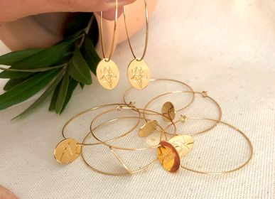 Jewelry - Provence Herbarium medal hoop earrings - JOUR DE MISTRAL