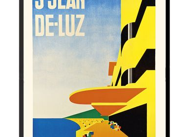 Poster - POSTER SAINT-JEAN-DE-LUZ MALLET-STEVENS AVAILABLE IN 2 FORMATS - BILLPOSTERS