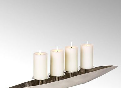 Christmas decoration - Canoo table top wreath with 4 candleholders - LAMBERT