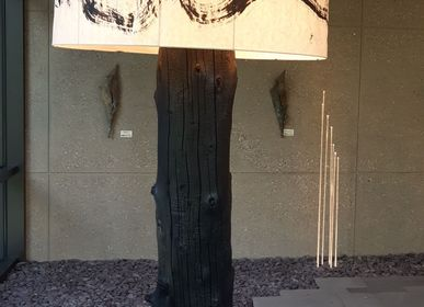 Outdoor floor lamps - Floor lamp The Tree YAKISUGI  - ADJAO MAISON