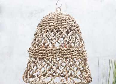 Hanging lights - Seagrass Net Hanging Lampshade - NYAMAN GALLERY BALI