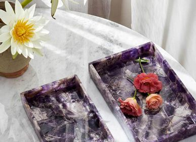 Plateaux - Amethyst Semi-Precious Stone Tray - VEN AESTHETIC CREATIONS