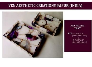 Plateaux - Mix Agate Stone Tray - VEN AESTHETIC CREATIONS