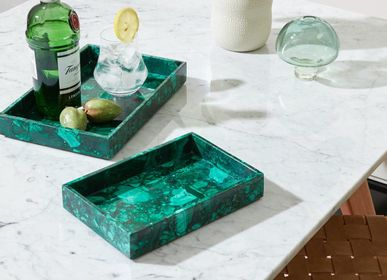 Trays - Malachite Semi-Precious Stone Trays  - VEN AESTHETIC CREATIONS