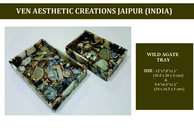 Trays - Wild Agate Stone Tray - VEN AESTHETIC CREATIONS