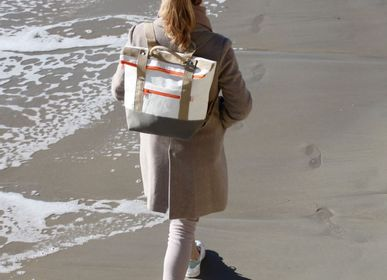 Bags and totes - Recycled Boat Sail Backpack - LES TOILES DU LARGE
