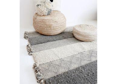 Autres tapis - Tapis marocain Kilim - Motif Zanfi Flatweave et noeuds - TASHKA RUGS