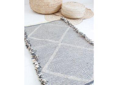 Bespoke - Moroccan Small Kilim Rug - Diamond Pattern Flatweave #3 - TASHKA RUGS