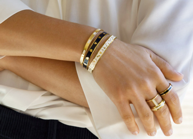 Bijoux - Jonc Lucy - Blanc sable - BANGLE UP